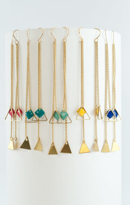 mementomori,bijoux,bijou,createur,fantaisie,mikado,triangle,boucles,oreilles,or,argent